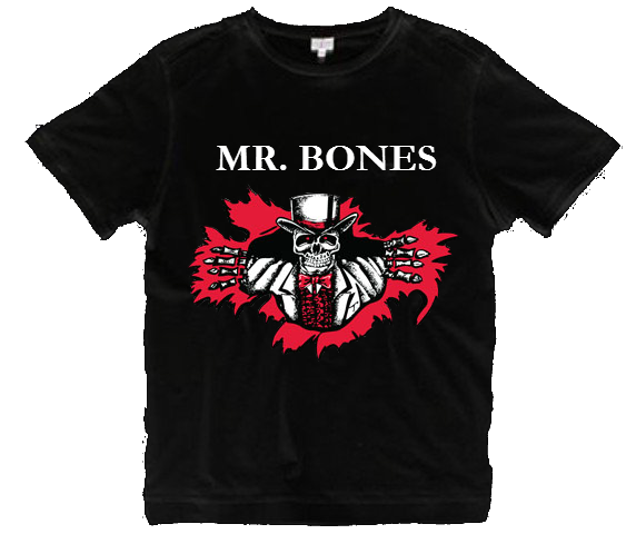 Black Mr. Bones T-Shirt